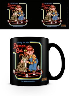 Steven Rhodes: Demon Cat Coffee Mug - 1