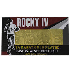 Rocky IV Ivan Drago Fight Ticket: 24K Gold Plated Limited Edition Collectible - 5