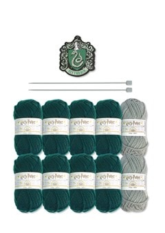 Slytherin House Scarf: Harry Potter Knit Kit - 3