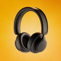 Urbanista Los Angeles Midnight Black Solar Powered Active Noise Cancelling Bluetooth Headphones - 2