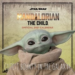 Star Wars: The Mandalorian Baby Yoda: Square 2021 Calendar (hmv Exclusive) - 1