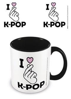 K-Pop: I Love K-Pop Black Coloured Inner Mug - 1