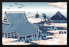 Godzilla Rooftop: Framed Maxi Poster - 1