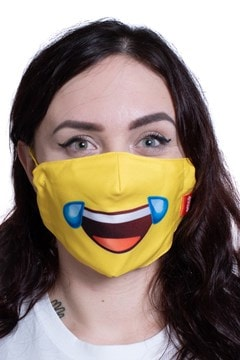 Cry Laugh Emoji Face Covering - 1
