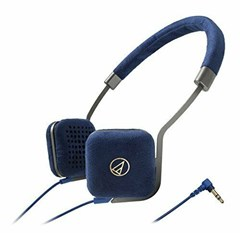 Audio Technica ATH-UN1 Navy Headphones - 1