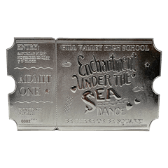 Back To The Future: Silver Plated Ticket Metal Replica (online only) - 2