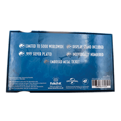 Jurassic World: Mosasaurus Silver Plated Metal Replica Ticket (online only) - 4