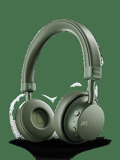 Jays A-Seven Green Bluetooth Headphones - 1