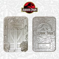 Jurassic Park: Entrance Gates Silver Plated Collectible - 1