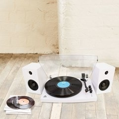 GPO Piccadilly Matte White Turntable With Speakers (hmv Exclusive) - 4