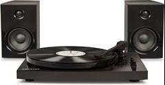 Crosley T100 Black Turntable & Speaker Bundle - 1