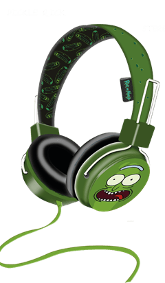 Lazerbuilt Rick & Morty Pickle Rick Headphones w/Mic - 1