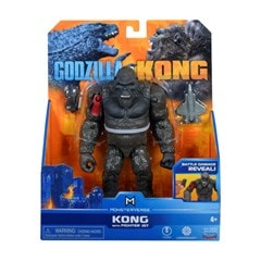 Monsterverse Godzilla vs Kong: Hollow Earth Kong with Fighter Jet Action Figure - 3