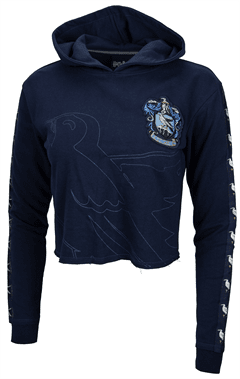 Harry Potter: Ravenclaw Ladies Cropped Hoodie (Small) - 2