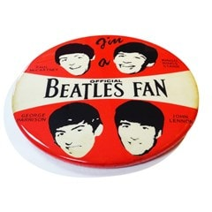 Beatles: 1964: Limited Edition Giant 3D Pin Badge Wall Art By Tape Deck Art - 3