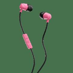Skullcandy Jib Pink/Black Earphones W/Mic - 1