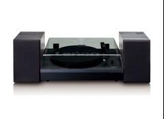 Lenco LS-300 Black Turntable and Speakers - 2