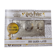 Harry Potter: Silver Plated Yule Ball Ticket Metal Replica (online only) - 3