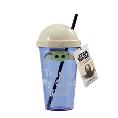 The Child: This Is My Good Side: The Mandalorian Travel Cup with Straw - 1