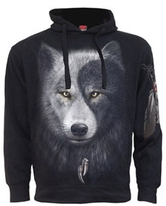 Spiral: Hoodie Wolf Chi: Side Pocket Hoodie (Extra Large) - 1