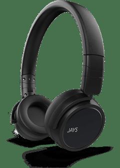 Jays X-Five Black Bluetooth Headphones - 1