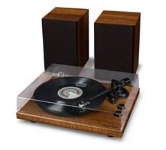 Crosley C62 Walnut Turntable & Speakers - 2