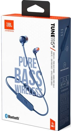 JBL Tune 115BT Blue Bluetooth Earphones - 6