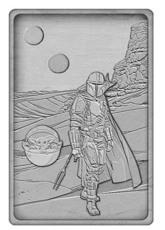Mandalorian And Baby Yoda: Star Wars Ingot Collectible - 2