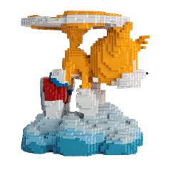16 Bit Tails: Sonic Figurine: Hero Collector - 2