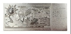 Jaws: Silver Plated Ticket Metal Replica (online only) - 5