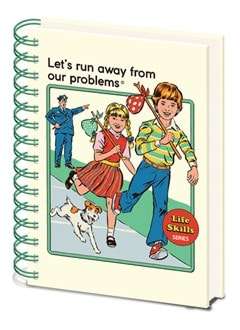 Steven Rhodes: Let's Run Away From Our Problems: A5 Wiro Notebook - 1