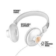 House Of Marley Positive Vibration 2.0 Silver Headphones w/Mic - 3
