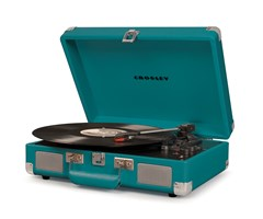 Crosley Cruiser Deluxe Teal Turntable - 1