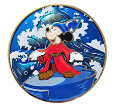 Fantasia Mickey Conducting: Disney Limited Edition Artland Pin - 1