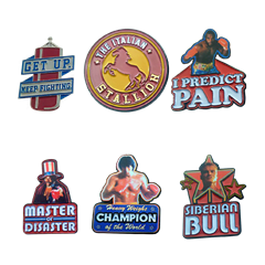 Rocky Limited Edition Pin Badges (Pack of 6) - 2
