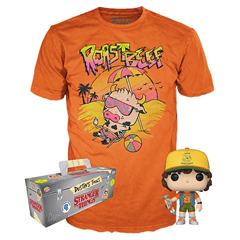Stranger Things: Dustin with Roast Beef (828) Pop! Tee (hmv Exclusive) (Small) - 1