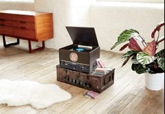 GPO Chesterton DAB Wood 5-In-1 USB Turntable w/ DAB Radio, CD & Cassette Player - 5