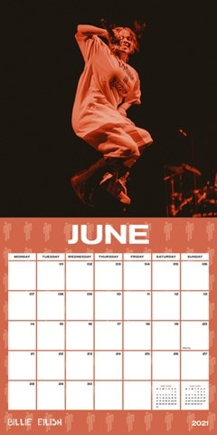 Billie Eilish: Square 2021 Calendar - 2