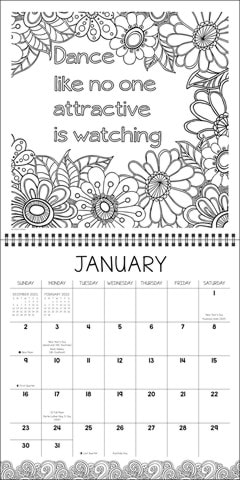 Calm the F*ck Down Square 2022 Calendar - 2