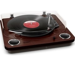 Ion Max LP Dark Wood USB Conversion Turntable - 1
