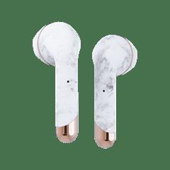 Happy Plugs Air1 Plus White Marble Earbud True Wireless Bluetooth Earphones - 4