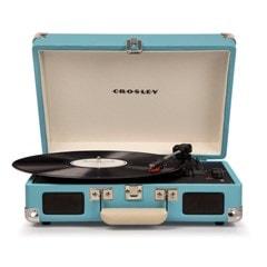 Crosley Cruiser Deluxe Turquoise Turntable - 1