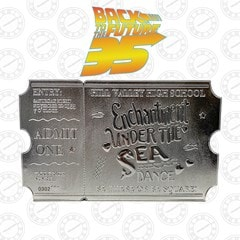 Back To The Future: Silver Plated Ticket Metal Replica (online only) - 1