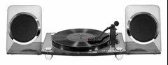 Victrola Acrylic Charcoal Turntable With Bluetooth Speakers - 1