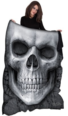 Solemn Skull Fleece Blanket - 1