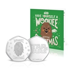 Wookiee Christmas: Silver Plated Star Wars Commemorative Coin - 1
