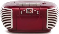 GPO PCD299 Red CD & Cassette Player with AM/FM Radio - 1
