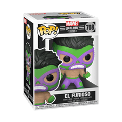 El Furioso: Hulk (708): Lucha Libre: Marvel Pop Vinyl - 2