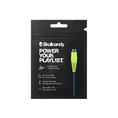 Skullcandy Round Micro USB Psycho Tropical Charge & Sync Cable 1.2m - 2