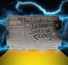 Back To The Future: Silver Plated Ticket Metal Replica (online only) - 3
